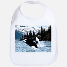 Leaping Killer Whales Bib
