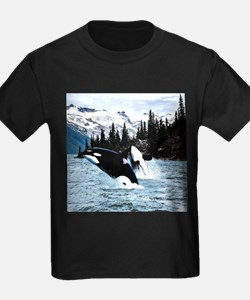 Leaping Killer Whales T-Shirt