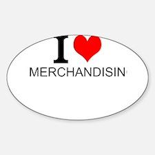 I Love Merchandising Decal
