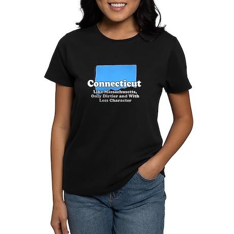 Connecticut Just Like Mass Women's Dark T-Shirt