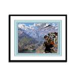 Cowboy Christmas - 12x9 Framed Print