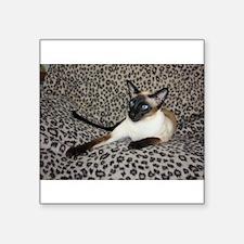 """Cute Leopard Square Sticker 3"""" x 3"""""""