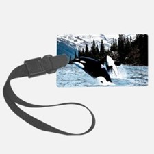 Leaping Killer Whales Luggage Tag
