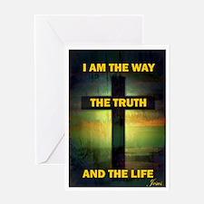 Cute Christian words faith Greeting Card