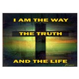 Jesus the way and the truth and the life Framed Prints