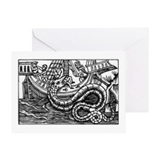 Sea_serpent Greeting Cards