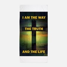 I am the way, the truth and the life Beach Towel