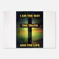 I am the way, the truth and the life 5'x7'Area Rug