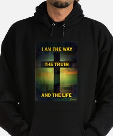I am the way, the truth and the life Hoodie (dark)