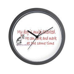 Multi-talented canine Wall Clock