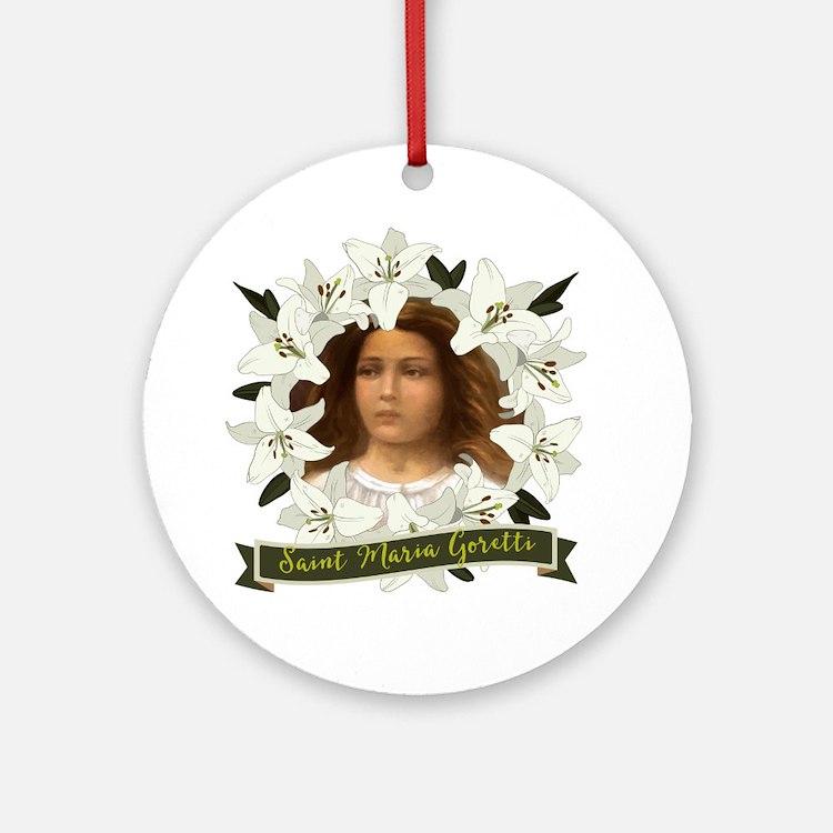 St. Maria Goretti Round Ornament