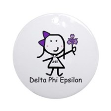Greek Lizzy - Delta Phi Epsilon Ornament (Round)