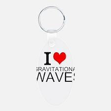 I Love Gravitational Waves Keychains