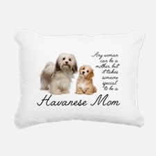 Havanese Mom Rectangular Canvas Pillow