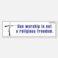 Gun Worship / Bumper Bumper Bumper Sticker