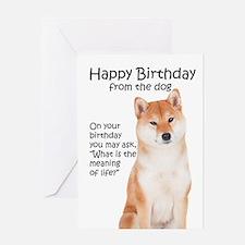 Funny Shiba Inu Birthday Greeting Cards