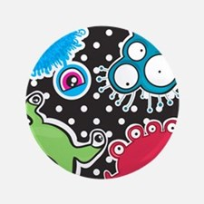 Cute Monsters Button