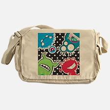 Cute Monsters Messenger Bag