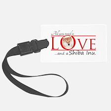 Shiba Inu Love Luggage Tag