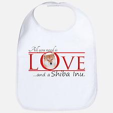 Shiba Inu Love Bib