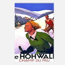 Cute Vintage ski Postcards (Package of 8)