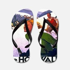 Cute Skiing Flip Flops