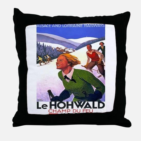 Vintage poster - Le Hohwald Throw Pillow