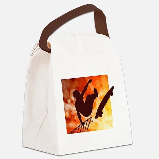 Cute Skateboard Canvas Lunch Bag