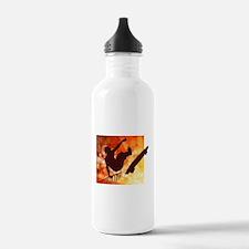 Skateboarder in Air Ye Water Bottle