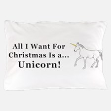 Christmas Unicorn Pillow Case