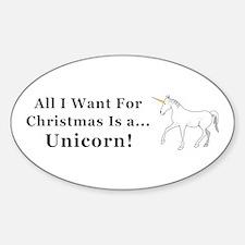 Christmas Unicorn Decal