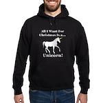 Christmas Unicorn Hoodie (dark)