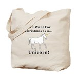 Christmas Unicorn Tote Bag