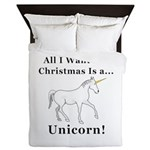Christmas Unicorn Queen Duvet