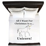 Christmas Unicorn King Duvet
