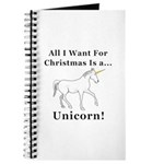 Christmas Unicorn Journal