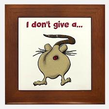 Funny Rats Framed Tile