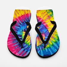 Peace Sign Hippie Hippy Psychedelic Tie Flip Flops