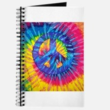 Peace Sign Hippie Hippy Psychedelic Tie-Dy Journal