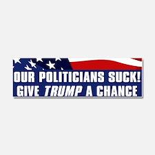 Politicians Suck Give Trump Car Magnet 10 x 3