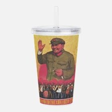 Vintage poster - Mao Z Acrylic Double-wall Tumbler