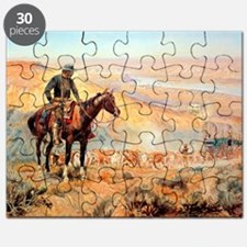 Funny Oklahoma state cowboys mens Puzzle