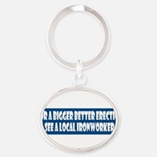Unique Workers Oval Keychain