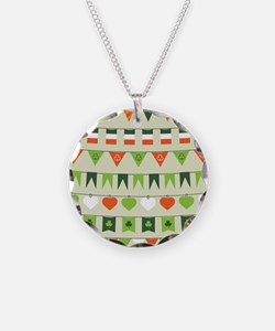 st patricks day flag Necklace Circle Charm