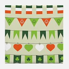 st patricks day flag Tile Coaster