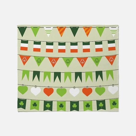 st patricks day flag Throw Blanket