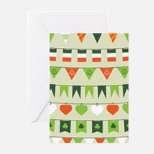 st patricks day flag Greeting Cards