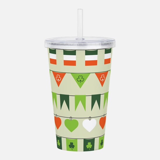 st patricks day flag Acrylic Double-wall Tumbler