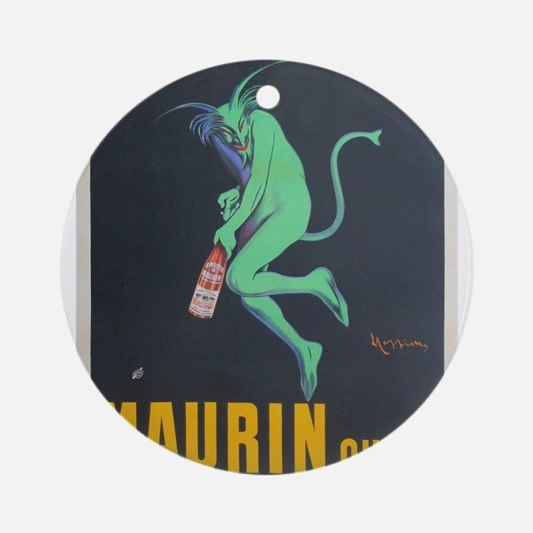 Vintage poster - Maurin Quina Round Ornament
