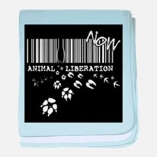 Animal Liberation Now - Until Every C baby blanket